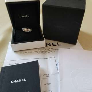 18k WG chanel ring