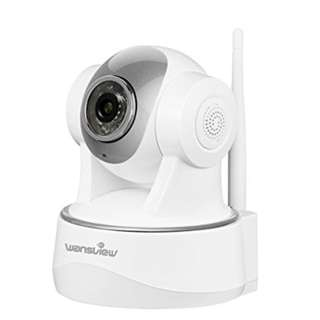 Wansview 1080P WiFi Wireless Security IP Camera, Pan/Tilt, Plug/Play,Two-Way Audio & Night Vision Home Surveillance Camera with Baby Monitor Video Q2 (White)