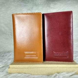 Dompet pria tanggung 3/4 kulit asli import
