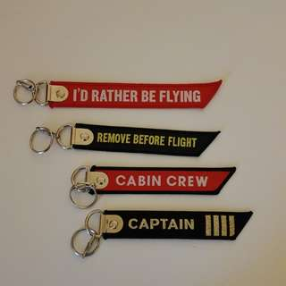 Flight crew baggage tags