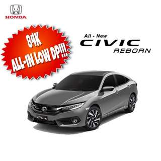 CIVIC FOR AS LOW AS 84K ALL-IN PROMO!!!