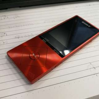 Sony nw-a25 mp3 orange color very good condition