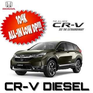 CR-V DIESEL FOR AS LOW AS 104K