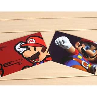 童年回憶 超级瑪里奧卡通明信片 1套2張
