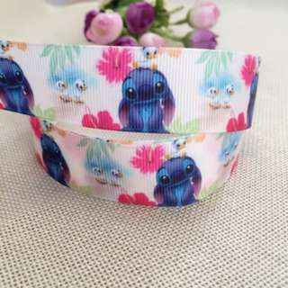 Printed Cartoon Cute Lilo 25mm Grosgrain Ribbon DIY