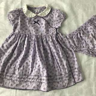 Purple Flowers Girl Dress
