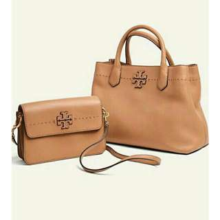 Ready authentic ori TORYBURCH mcgraw crossbody & TORYBURCH mcgraw triple compartment tote