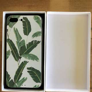 Brand New iPhone 8+ Case White And Green Leaf Also Fits 6+ & 7+ Comes In White Gift Box