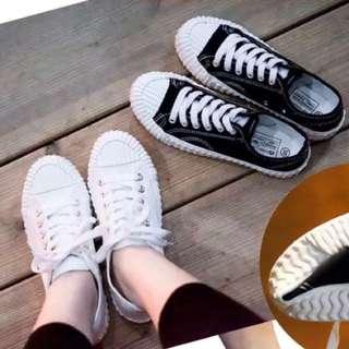 🚚 全新白色韓國餅乾鞋帆布鞋 小白鞋