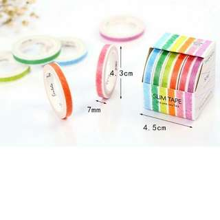 [PO] 6-piece Crayon Colour Washi Tape