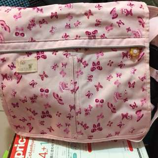 🚚 美國帶回 Gap 少女 女孩 粉色 肩背包 書包 側背包 小花 花朵