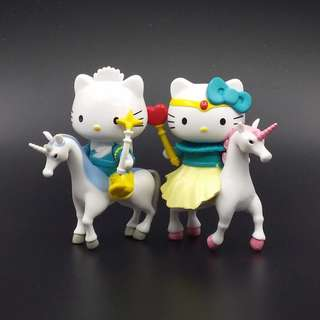 Fairy tale Kingdom Charming Prince and Princess Hello kitty on unicorn pony , couple set