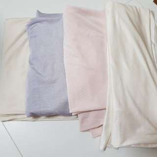 Soft stretchy lycra spandex fabric for lingerie and socks lavender, cream, beige gold and pink