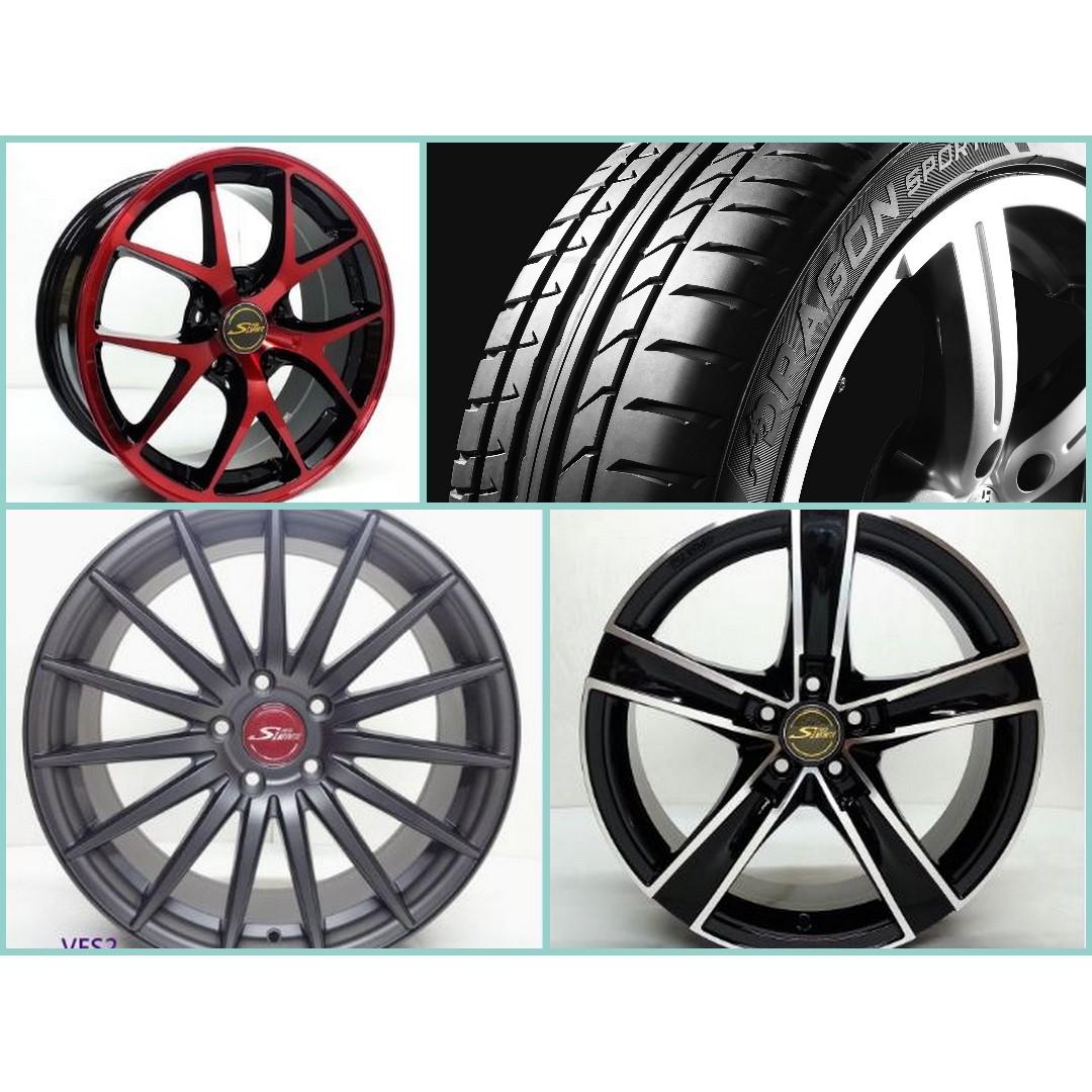 17吋 台製鋁圈搭胎完工均一價~215/45/17 倍耐力高性能Dragon-Sport 年終特惠升級美圈跑胎日日放送價
