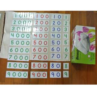 Montessori small number cards 3 sets