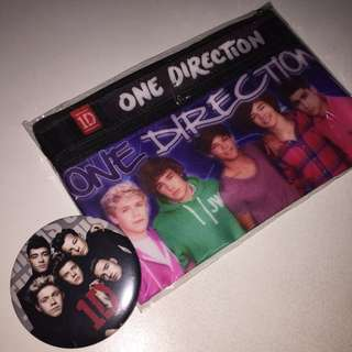 ONE DIRECTION pencilcase with complementary badge