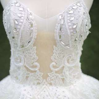 White wedding or debut gown