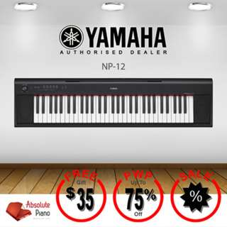 Yamaha Mid Year Sale !!! YAMAHA Piaggero Keyboard NP-12