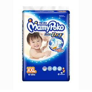 Mamy Poko extra dry diapers XXL (2 packs for RM75)