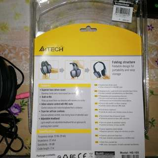 A4Tech headset with noice cancellation