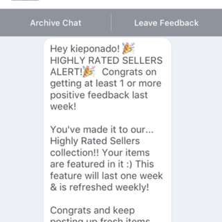 8th HIGHLY RATED SELLER COMMENDATION!!