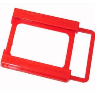 SSD固態硬碟支架 2.5轉3.5 SSD硬碟架 筆電硬碟架 2.5吋 轉 3.5吋 固態硬碟 固定架 紅