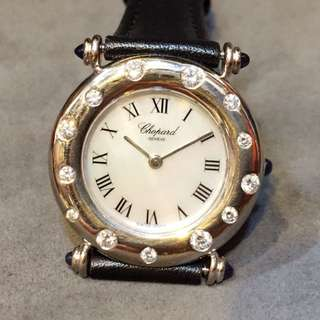 Chopard 18k White Gold Diamond +Mother of Pearl Ladies Quartz Watch Ø27mm
