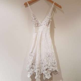 White Dress Size 8