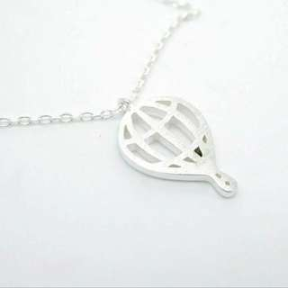 925 silver hot air balloon pendant necklace / 925純銀輕氣球吊咀頸鏈