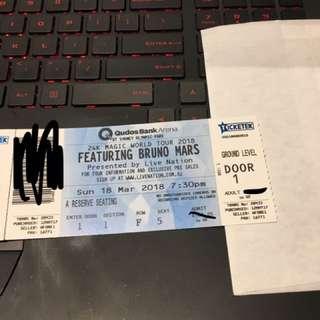 Bruno Mars Ticket Sydney 18 March