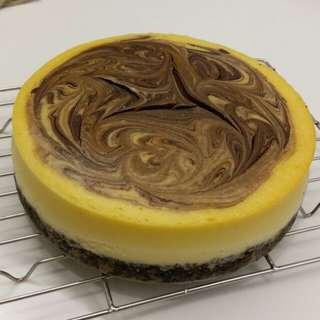 自家製朱古力雲石芝士蛋糕六吋