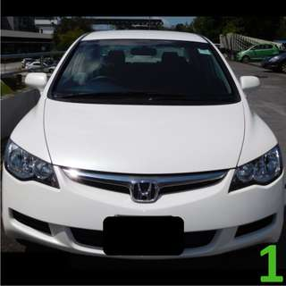 1 Week Contract Honda Civic @ $360