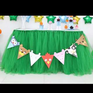 Brand New Green Table Tutu