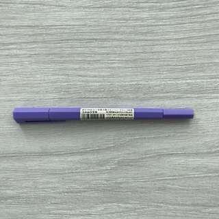Double Ended Hybrid Hexagonal Pen Purple