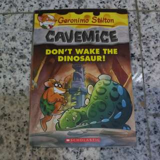 Geronimo Stilton Cavemice Don't Wake The Dinosaur