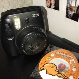 Black Polaroid Camera with Gudetama Sticker