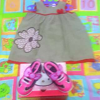 Hello kitty sanrio shoes n dress