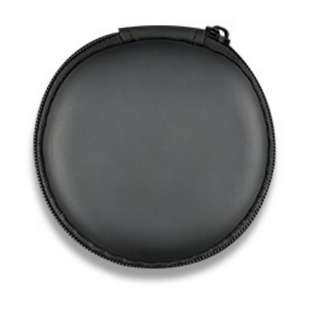 Black Light Weight round case for earpiece & more