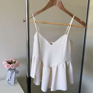 BARDOT peplum crop top