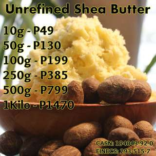 Unrefined Shea Butter - Raw Organic Virgin