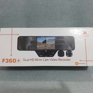 F360 DUAL HD MIRROR CAM VIDEO RECORDER with Night Vision!