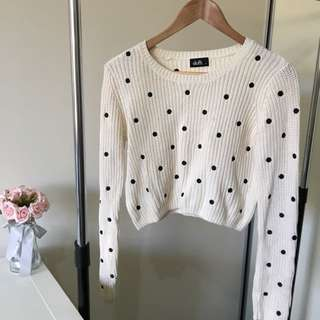 Spotted Crop Knit