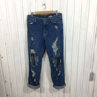 Eddie Bauer US Authentic Ripped Mom Jeans