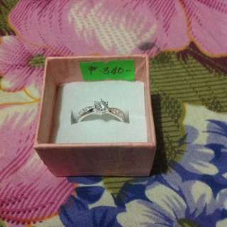 Authentic silver, Stone ring