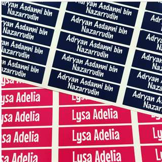 42 x Waterproof stickers labels Transparent School Name Labels Stickers for Primary Preschool Nursery Kindergarten