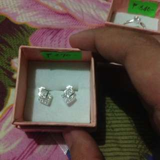 Authentic Italy Silver - stone earrings
