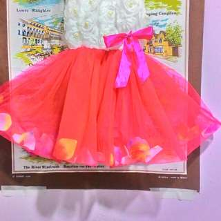 Flowers dress with flowers petals