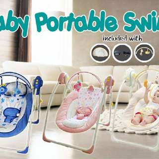 HULALA BABY PORTABLE SWING (TIMER & MUSIC)  Rm220 Inc pos semenanjung