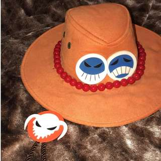 One Piece Anime — Portgas D Ace Cosplay Hat