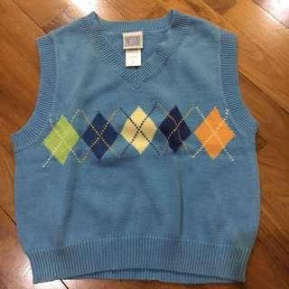 Little Me Blue Vest sweater